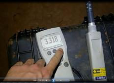 Measurement of CO2 concentration with IR portable meter.