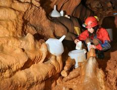 Zguba jama – sampling of epikarst fauna.